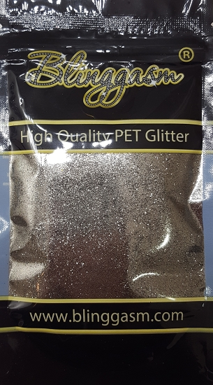 Metallic Solvent Resistant Blinggasm Polyester Glitter 3.5 oz By Weight .008 Or .015 Choose Size From Menu #61 B01006 STEEL